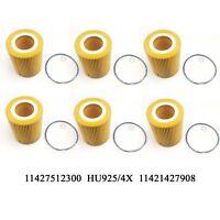 6PCS Oil Filter For BMW E36 E39 E46 E53 E60 E83 E85 Z3 323i 325i 328i 525i X5 Z4