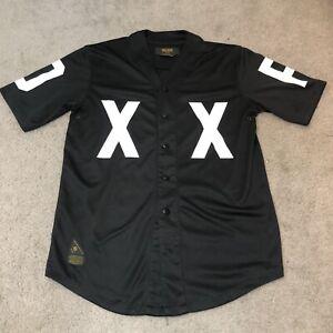 10 Deep Dxxp Baseball Jersey Shirt Black Men's Medium