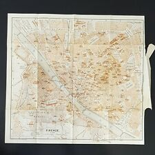 Florence Italy  - 1886 - Antique Original Map