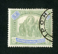 Malaya Stamps # 16 XF Used Signed Scott Value $500.00