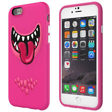 Nouveau SWITCHEASY MONSTERS 4.7 IPHONE 6 6S fun face 3D IMD TPU Dur Housse Rose