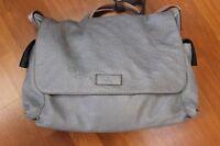Gucci Signature Diaper Handbag Shoulder Bag Tote Purse Satchel Hobo Blue