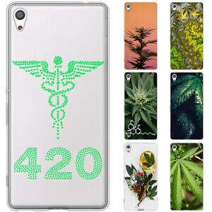 Dessana Cannabis Marijuana Silicone Protective Case Pouch Cover For sony