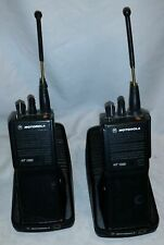2x Motorola HT 1000 radio WITH cradle Charger Power Cord Used