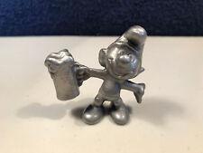 Smurfs Pewter Beer Smurf 20078 Rare Vintage Figurine Metal Classic Figure Mug