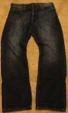 2012 GAP Mens PREMIUM EASY Fit Dark Blue Jeans 36x34 ~ 36/34 actual = 38 x 32 .5