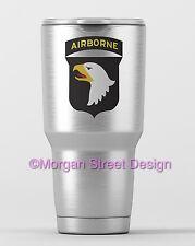 Yeti 101st Airborne Die Cut Vinyl Phone Yeti Decal Sticker
