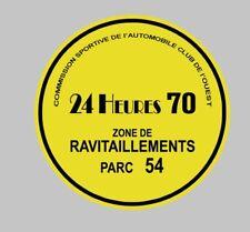 LE MANS 24 H heure 1970 Parking permis Decal Sticker Steve McQueen