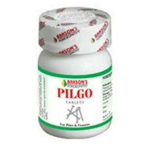 Pilgo Tablets Bakson's Homeopathic For Piles 75 Capsules