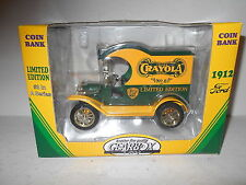 1998 Gearbox Limited Edition Coin Bank - 1912 Ford Crayola Truck - # 3  -  NEW
