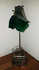 David Hunt Table Lamp with Trinket Box and Lampshade
