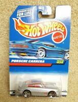 New 1997 Hot Wheels Diecast 1:64 Porsche Carrera Metallic Silver Item #829