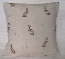 Handmade Cushion Cover - Fryetts Hartley Hare Natural - Same Fabric Front & Back