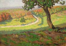 Eugen von Warun-Sekret 1896-1963 Frankfurt / Gemälde herbstlicher Wald signiert