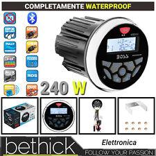 RADIO MP3 USB BLUETOOTH BOSS MARINE MGR350B NAUTICO MARINO STEREO 240W - BARCA