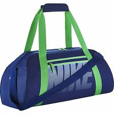 Women's Nike Gym Club Training Duffel Bag, BA5167 455 Blue/Green