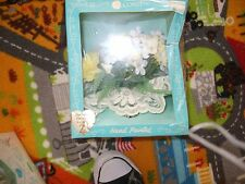 Vintage NIB Coast Handpainted Yellow fabric flowers wedding or party cake topper