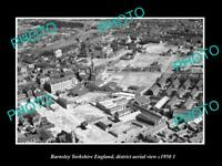 OLD LARGE HISTORIC PHOTO BARNSLEY YORKSHIRE ENGLAND DISTRICT AERIAL VIEW 1950 2