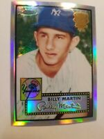 2002 Topps Chrome Refractor Billy Martin New York Yankees #52R-6  C183