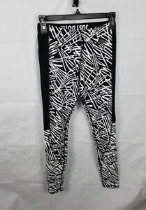 Nike Leg A See All Over Print Leggings Black/White 848991-010 Womens Size Small