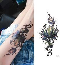 Sexy 3D Flower Waterproof Temporary Tattoo Stickers Women Men Arm Body CA