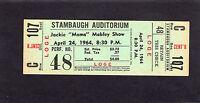 1964 Jackie Moms Mabley Otis Redding unused full concert ticket Youngstown Ohio