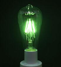 Antique LED COB Filament Edison Bulb E27 Screw Squirrel Cage 4W Green Light Lamp