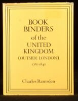1987 Charles Ramsden Bookbinders of the United Kingdom Plates