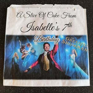 Personalised Greatest Showman White Cake / Party Bags