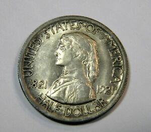 1921 MISSOURI 50c SCARCE EARLY SILVER COMMEM CHOICE ORIGINAL UNCIRCULATED