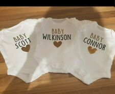 Personslised Baby Bodysuit Pregnancy Announcement