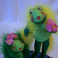 Annalee Special Event Fabulous Floozy Frogs MIP 1998 Signed Chuck Thorndike Boas