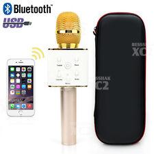 Wireless Microphone Q7 Gold Handheld KTV Karaoke Mic Bluetooth Speaker Player AU