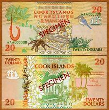 SPECIMEN, Cook Islands, $20, 1992, P-9 (9s) UNC