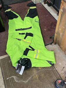 NRS Extreme SAR Hi Viz Green Drysuit Size XXL Br