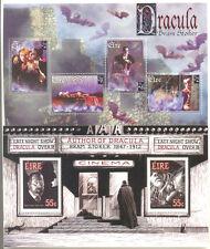 Irlanda-Dracula-Bram Stoker Conjunto de 2 Min HOJAS estampillada sin montar o nunca montada