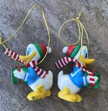 Walt Disney Co. Vintage Christmas 2 Donald Duck Ornaments