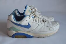 NIKE AIR 180 Blanc/Bleu Textile/Cuir Baskets Rétro-UK 8.5 EU 43 US 9.5