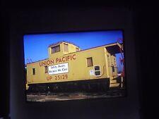 Original slide orange empire railway museum perris Ca Caboose Union Pacific Car