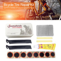 Bicycle Tyre Rubber Tube Fix Kit Bike Flat Tire Repair Patch Glue Lever Tool Set