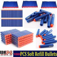 1000PCS Refill Bullet Darts for Nerf Toy Gun N-strike Elite Series Toy 7.2cm  US