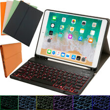 "For iPad 10.2"" 7th Gen 2019 Leather Case Cover With Wireless Bluetooth Keyboard"