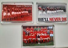 More details for 3x new manchester united man utd team football club fridge magnet gift 45mmx70mm