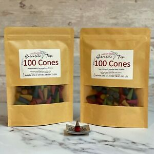 200 Incense CONES High Quality Scent Assorted Mixed Random Natural Made INDIA E1