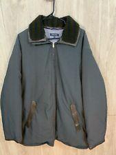 Faconnable Heavy Winter Jacket Mens Full Zip Removable Collar Grayish Blue 2XL