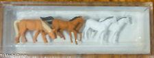 Preiser N #79150 Animals -- Assorted Horses