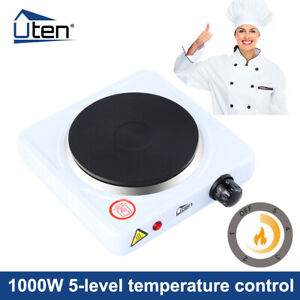 Single Hot Plate Portable Table Top 1000W Electric Cooker Stove Kitchen Utensils