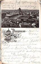 AK Litho. Gruss aus Potsdam Ortsansicht Postkarte gel. 1905