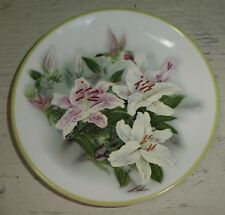"Lena Liu Hummingbird & Lilies Teleflora Gift 6"" Round Decorative Plate"