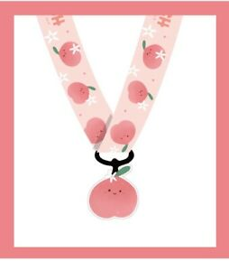 Kawaii Peach Pink Fruit Funky Cute Lanyard ID Mobile Neck Charm Christmas Gift